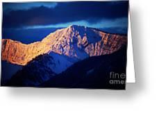 Lizard Range Mountain Sunrise Greeting Card