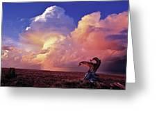 Mountain Thunder Shower Greeting Card