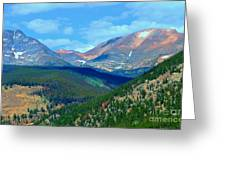 Mountain Top Color Greeting Card