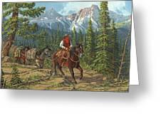 Mountain Traveler Greeting Card