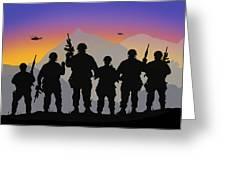 Mountain Troop Greeting Card