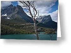 Mountain View At Glacier National Park Greeting Card