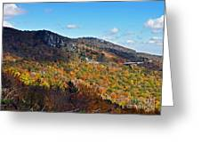 Mountain View From Linn Cove Viaduct Greeting Card