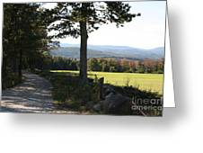 Mountain View Landscape Greeting Card