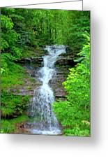 Mountain Waterfall I Greeting Card