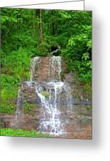 Mountain Waterfall II Greeting Card