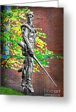 Mountaineer Statue Greeting Card