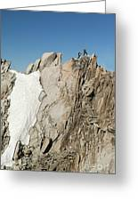Mountaineers, French Alps Greeting Card