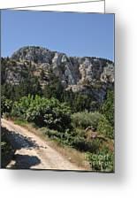 Mountainous Zia Village Greeting Card