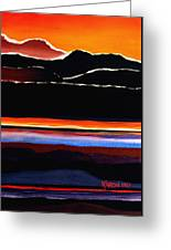 Mountains Abstract Greeting Card