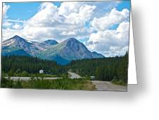 Mountains Along Cassiar Highway In Yt Greeting Card