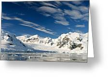 Mountains And Glaciers, Paradise Bay Greeting Card