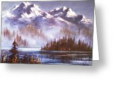 Mountains And Inlet Greeting Card