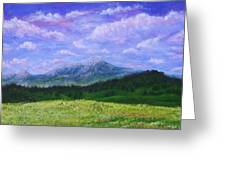 Mountains At Fossil Trails Greeting Card