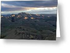 Mountains At Sunset Greeting Card