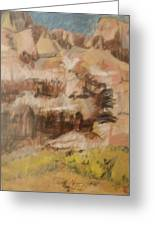 Mountains At The Dead Sea Greeting Card