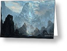 Mountains  Castles  Fantasy   Artwork   Greeting Card