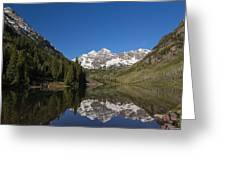 Mountains Co Maroon Bells 12 Greeting Card