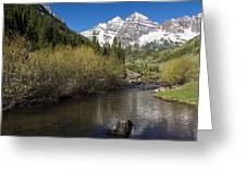 Mountains Co Maroon Bells 14 Greeting Card