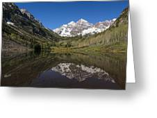 Mountains Co Maroon Bells 16 Greeting Card