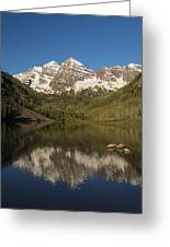 Mountains Co Maroon Bells 7 Greeting Card