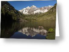 Mountains Co Maroon Bells 8 Greeting Card