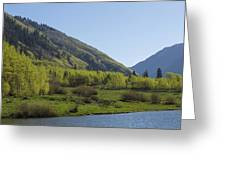 Mountains Co Maroon Lake 2 Greeting Card