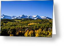 Mountain's Gold Greeting Card