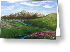 Mountains In Springtime Greeting Card