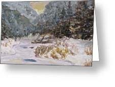 Mountains In The Snow Greeting Card