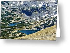 Mountains Lakes Greeting Card