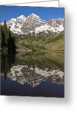 Mountains Maroon Bells 11 Greeting Card