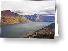 Mountains Meet Lake #5 Greeting Card