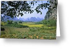 mountains near Yangshou and Guilin  Greeting Card