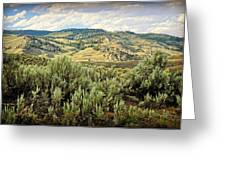 Mountains North Of The Lamar Greeting Card