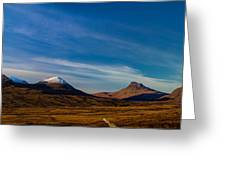Mountains Of Assynt Panorama Greeting Card