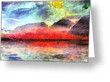 Mountains Of Fire Greeting Card
