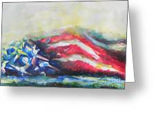 Mountains Of Freedom Greeting Card