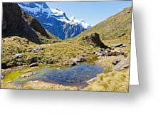 Mountains Of New Zealand Greeting Card