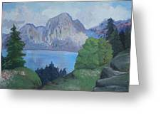 Mountains On The Lake Greeting Card