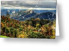 Mountains Smoking Greeting Card