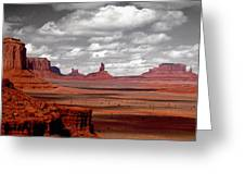 Mountains, West Coast, Monument Valley Greeting Card