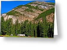 Mountains West Of Kicking Horse Campground In Yoho Np-bc Greeting Card