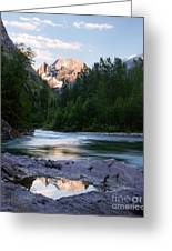 Mountaintop Reflection Greeting Card