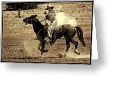 Mounted Shooting Greeting Card