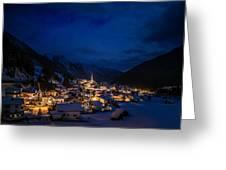 Mountian Village Greeting Card