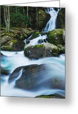 Mouse Creek Falls In Colour Greeting Card