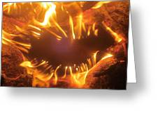 Mouth In The Flame Greeting Card