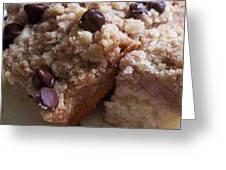 Mouthwatering Crumb Cake Greeting Card