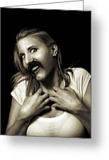Movember Sixteenth Greeting Card by Ashley King